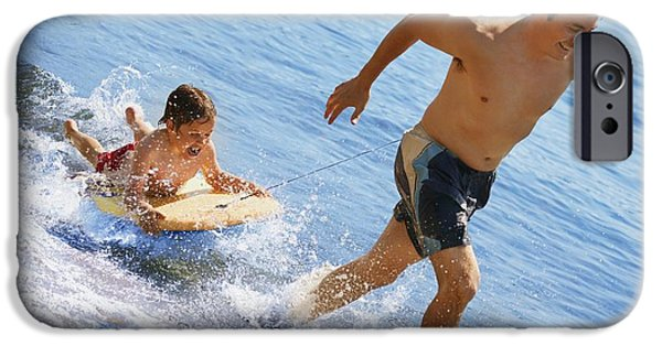 25-29 Years iPhone Cases - Playing In Water iPhone Case by Don Hammond