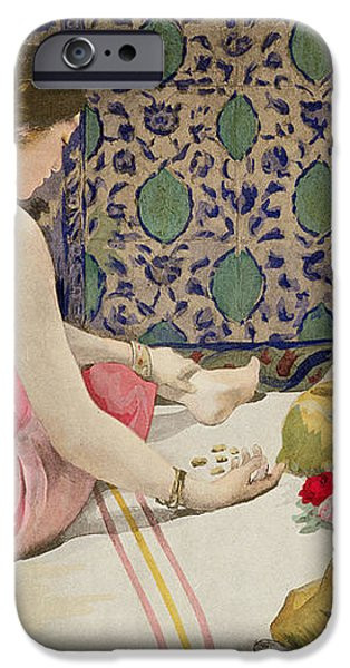 Playing Knucklebones iPhone Case by Paul Alexander Alfred Leroy