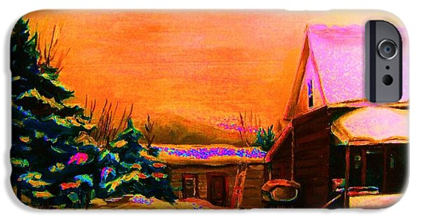 Hocket Art iPhone Cases - Playing Until The Sun Sets iPhone Case by Carole Spandau
