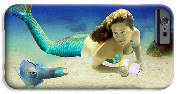 Angel Mermaids Ocean iPhone Cases - Playmates iPhone Case by Paula Porterfield-Izzo