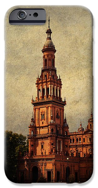 Plaza de Espana 2. Seville iPhone Case by Jenny Rainbow