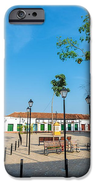 Plaza in Mompox iPhone Case by Jess Kraft