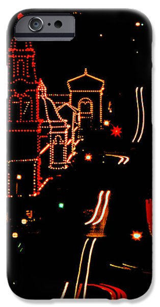 Plaza Lights III iPhone Case by Thomas Bomstad