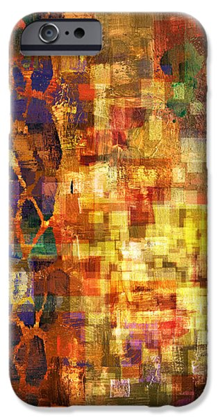 Abstract Digital Paintings iPhone Cases - Pleased Beginnings 1 iPhone Case by Craig Tinder