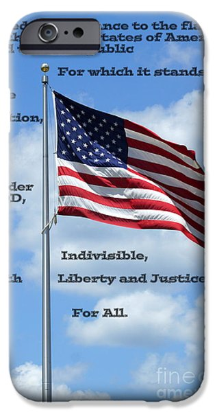 Recently Sold -  - 4th July iPhone Cases - Pledge of Allegiance iPhone Case by Paul  Wilford