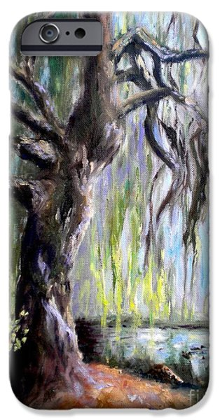 Willow Lake Paintings iPhone Cases - Plein Air at Fort Dent Park iPhone Case by Wendy Ray