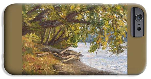 Plein Air iPhone Cases - Plein Air - Chicopee River iPhone Case by Lucie Bilodeau