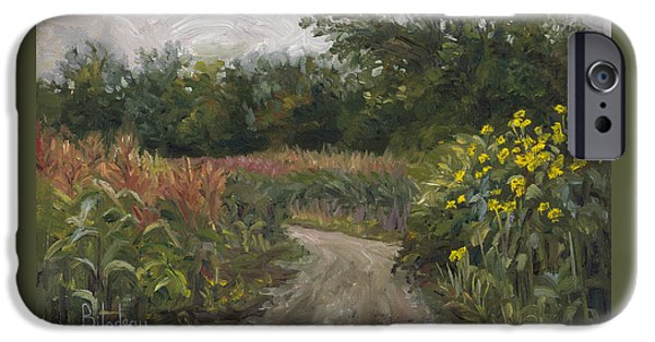 New England iPhone Cases - Plein Air - Corn Field iPhone Case by Lucie Bilodeau