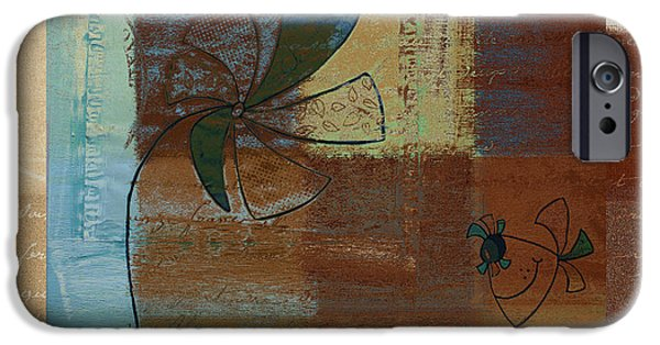 Brown Mixed Media iPhone Cases - Plouk - j128121046w1d iPhone Case by Variance Collections