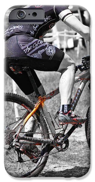 Male Athlete iPhone Cases - Plowing the Fields  iPhone Case by Steven  Digman