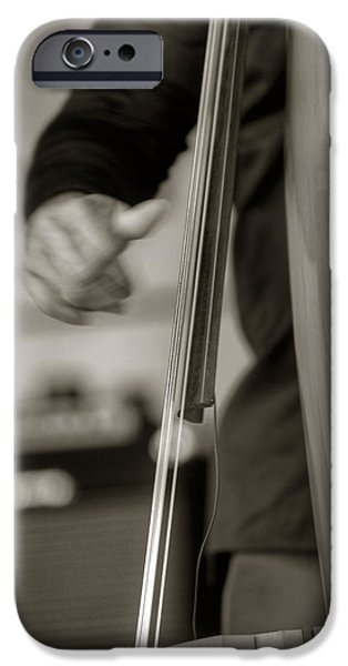Upright Bass iPhone Cases - Pluckin iPhone Case by Steve Gravano