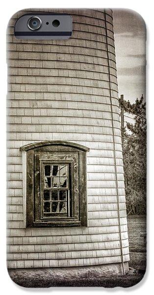 Lighthouse iPhone Cases - Plum Island Window iPhone Case by Joan Carroll