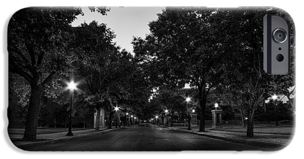 Destiny Photographs iPhone Cases - Plum Street to Franklin Square iPhone Case by Everet Regal