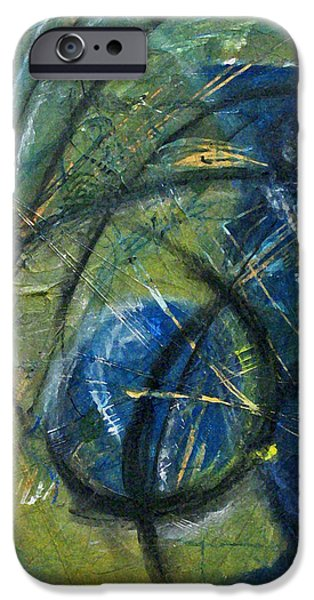 Best Sellers -  - Abstract Expressionist iPhone Cases - Plume I iPhone Case by Lynn Hughes