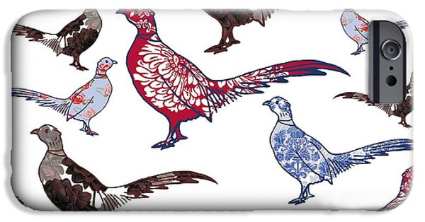 Pheasant iPhone Cases - Plush iPhone Case by Sarah Hough