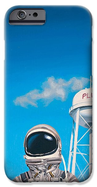 Science Paintings iPhone Cases - Pluto iPhone Case by Scott Listfield