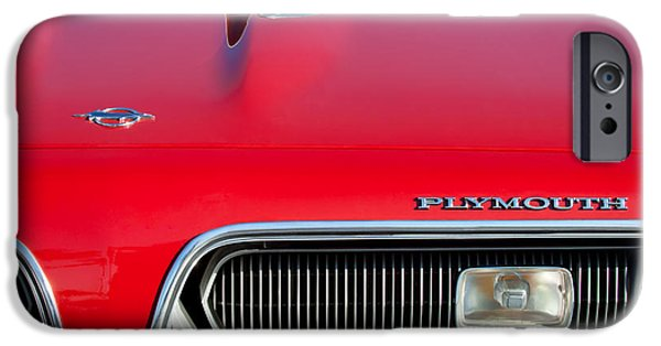 Plymouth iPhone Cases - Plymouth Barracuda Grille Emblem iPhone Case by Jill Reger