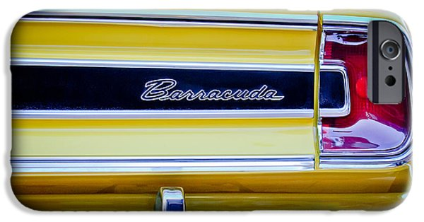 Plymouth iPhone Cases - Plymouth Barracuda Taillight Emblem -0711c iPhone Case by Jill Reger