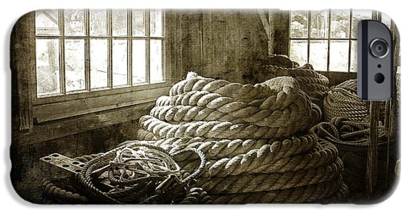 New England Village iPhone Cases - Plymouth Cordage Company Ropewalk iPhone Case by Cindi Ressler