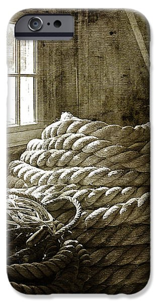 Plymouth Cordage Company Ropewalk iPhone Case by Cindi Ressler