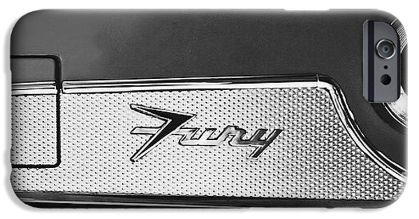 Fury iPhone Cases - Plymouth Fury iPhone Case by David Caldevilla