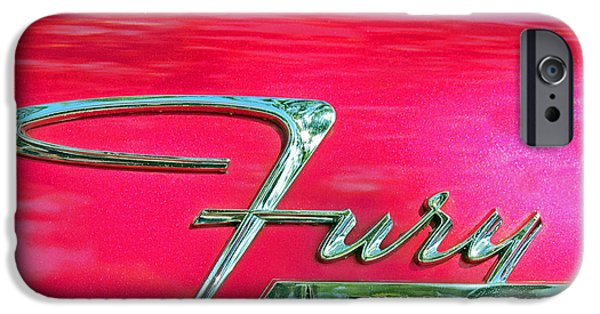Fury iPhone Cases - Plymouth Fury Logo 1 iPhone Case by Charlette Miller