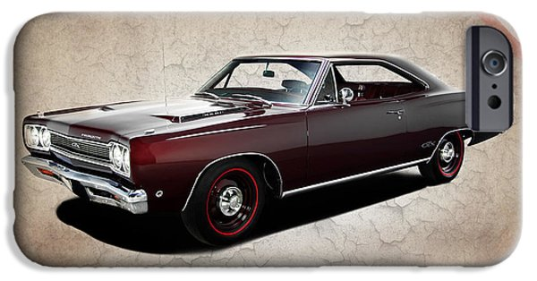 Plymouth iPhone Cases - Plymouth GTX 1968 iPhone Case by Mark Rogan