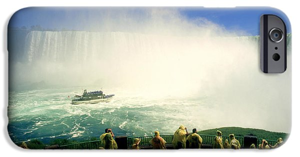 Raincoat iPhone Cases - P.mintz Maid Of The Mist, Niagara iPhone Case by First Light