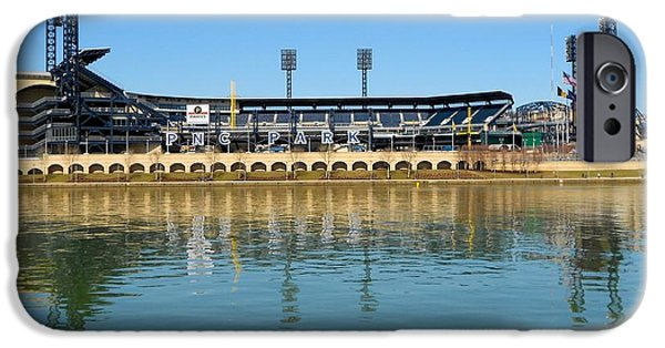 Pennsylvania Baseball Parks iPhone Cases - PNC Park Pittsburgh iPhone Case by Mountain Dreams