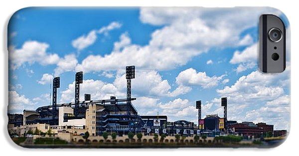 Baseball Stadiums iPhone Cases - PNC Park Tilt-Shift iPhone Case by Pittsburgh Photo Company