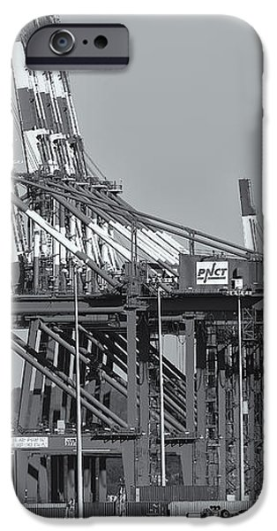 PNCT Facility in Port Newark-Elizabeth Marine Terminal II iPhone Case by Clarence Holmes