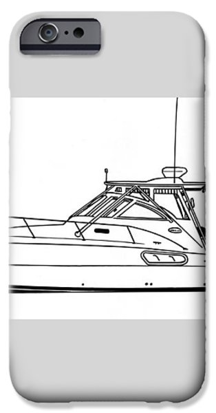 Pocket Yacht Profile iPhone Case by Jack Pumphrey