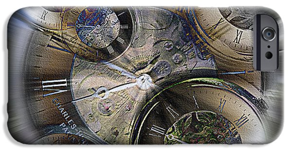 Mechanism Mixed Media iPhone Cases - Pocketwatches 2 iPhone Case by Steve Ohlsen