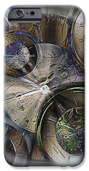 Pocketwatches 2 iPhone Case by Steve Ohlsen