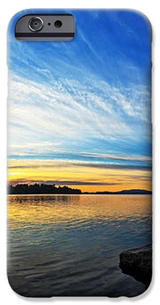 Pocomoonshine Sunset 1 Panorama iPhone Case by Bill Caldwell -        ABeautifulSky Photography