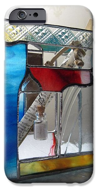 Poet windowsill Box - other view iPhone Case by Karin Thue