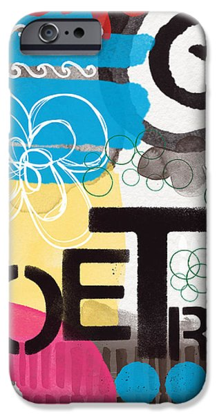 Poetry- Contemporary Abstract Painting iPhone Case by Linda Woods