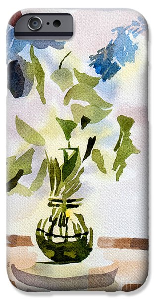 """indoor"" Still Life Paintings iPhone Cases - Poetry in the Window iPhone Case by Kip DeVore"