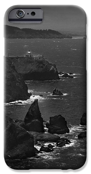 Lighthouse Digital iPhone Cases - Point Bonita Light iPhone Case by Mike McGlothlen