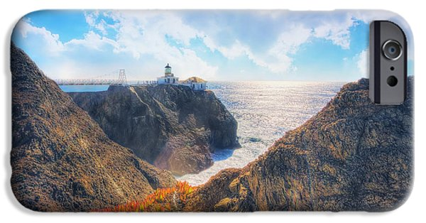 Sausalito iPhone Cases - Point Bonita Lighthouse - Marin Headlands 2 iPhone Case by The  Vault - Jennifer Rondinelli Reilly