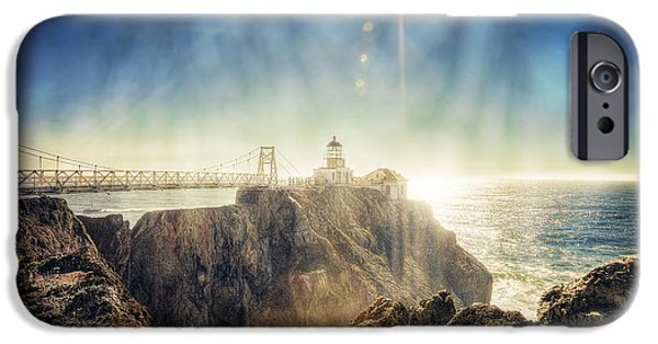 Sausalito iPhone Cases - Point Bonita Lighthouse - Marin Headlands 3 iPhone Case by The  Vault - Jennifer Rondinelli Reilly