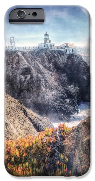 Sausalito iPhone Cases - Point Bonita Lighthouse - Marin Headlands 5 iPhone Case by The  Vault - Jennifer Rondinelli Reilly