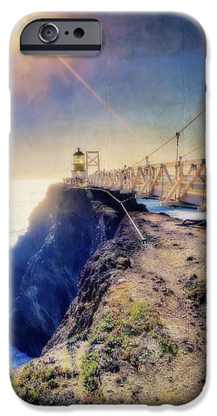 Sausalito iPhone Cases - Point Bonita Lighthouse - Marin Headlands 7 iPhone Case by The  Vault - Jennifer Rondinelli Reilly