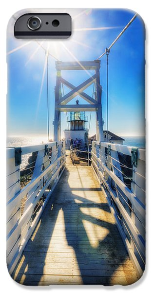 Sausalito iPhone Cases - Point Bonita Lighthouse and Bridge - Marin Headlands iPhone Case by The  Vault - Jennifer Rondinelli Reilly