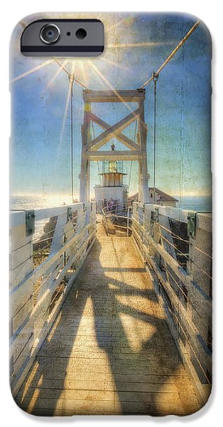 Sausalito iPhone Cases - Point Bonita Lighthouse and Bridge 2 - Marin Headlands iPhone Case by The  Vault - Jennifer Rondinelli Reilly