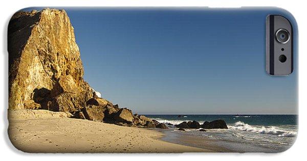Malibu iPhone Cases - Point Dume at Zuma Beach iPhone Case by Adam Romanowicz