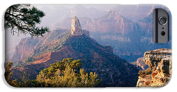 Grand Canyon iPhone Cases - Point Imperial At Sunrise, Grand iPhone Case by Panoramic Images
