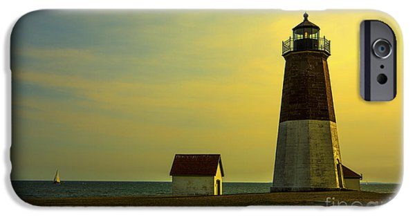 Recently Sold -  - New England Lighthouse iPhone Cases - Point Judith Lighthouse iPhone Case by Diane Diederich