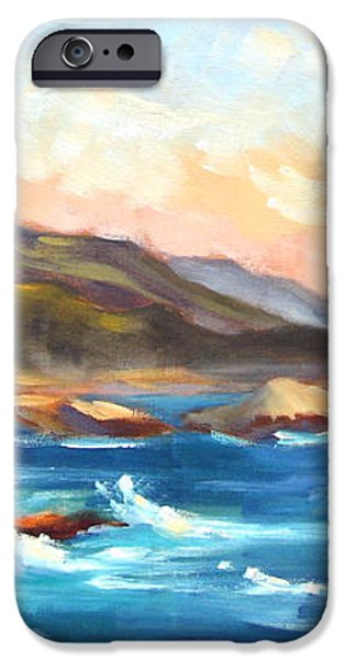 Point Lobos Sunset iPhone Case by Karin  Leonard