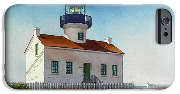 Lighthouse iPhone Cases - Point Loma Lighthouse iPhone Case by Mary Helmreich